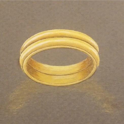 Witwenring Aus Zwei Eheringen Eheringe Bei 3